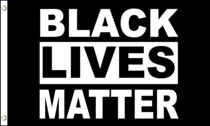 Flag depicting the Black Lives Matter movement.